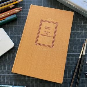 Recycling: Notiz- oder Skizzenbuch aus altem Buch